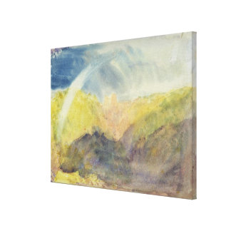 Crichton Castle (Mountainous Landscape with a Rain Gallery Wrap Canvas