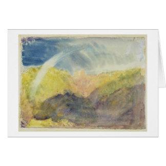 Crichton Castle (Mountainous Landscape with a Rain Card