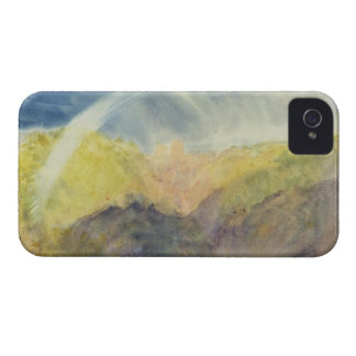 Crichton Castle (Mountainous Landscape with a Rain iPhone 4 Case-Mate Cases