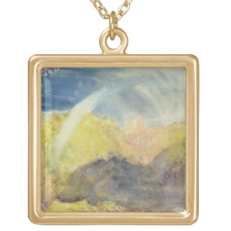 Crichton Castle (Mountainous Landscape with a Rain Gold Plated Necklace