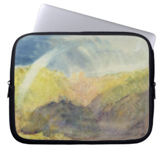 Crichton Castle (Mountainous Landscape with a Rain Laptop Sleeve