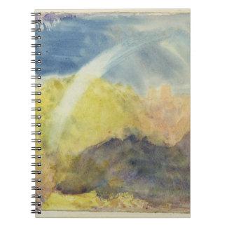 Crichton Castle (Mountainous Landscape with a Rain Spiral Notebook