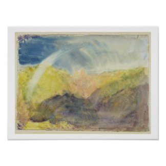 Crichton Castle (Mountainous Landscape with a Rain Poster