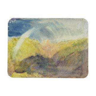 Crichton Castle (Mountainous Landscape with a Rain Rectangular Magnet