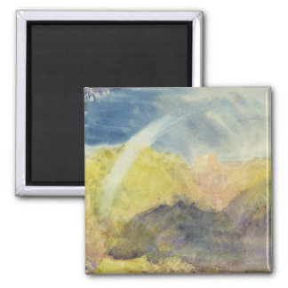 Crichton Castle (Mountainous Landscape with a Rain Square Magnet