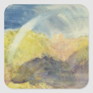 Crichton Castle (Mountainous Landscape with a Rain Square Sticker