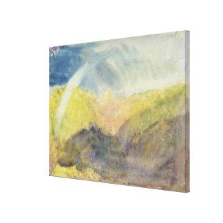 Crichton Castle (Mountainous Landscape with a Rain Stretched Canvas Prints