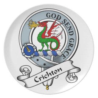 Crichton Clan Badge Dinner Plates