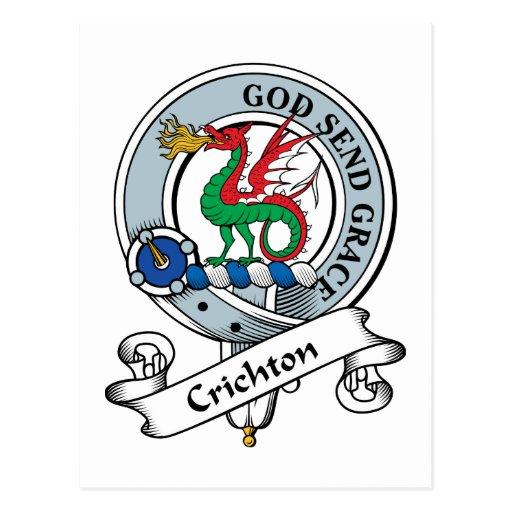 Crichton Clan Badge Postcards