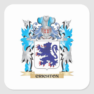 Crichton Coat of Arms - Family Crest Square Sticker