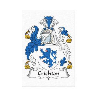 Crichton Family Crest Canvas Prints