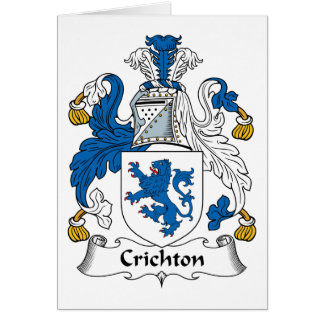 Crichton Family Crest Greeting Card