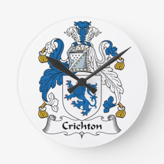 Crichton Family Crest Wall Clock