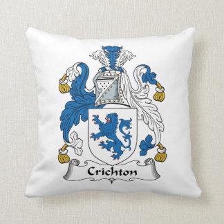 Crichton Family Crest Throw Pillow