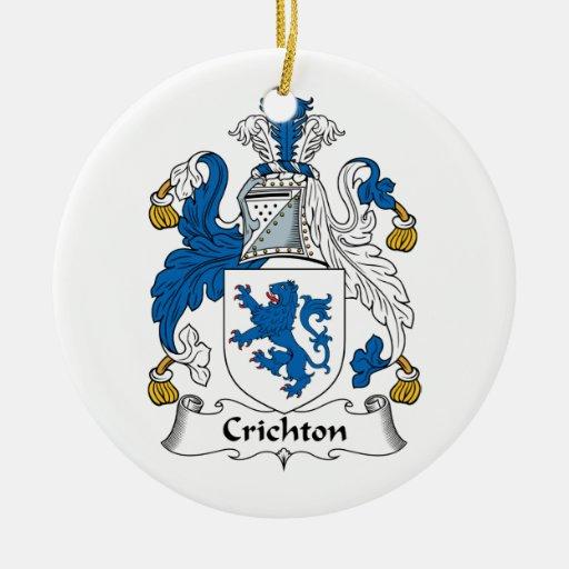 Crichton Family Crest Ornaments