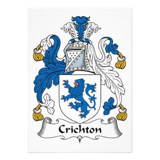 Crichton Family Crest Announcements