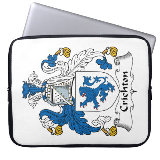 Crichton Family Crest Laptop Computer Sleeves
