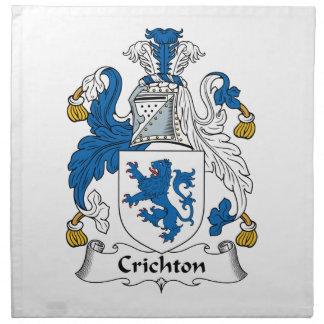 Crichton Family Crest Napkin
