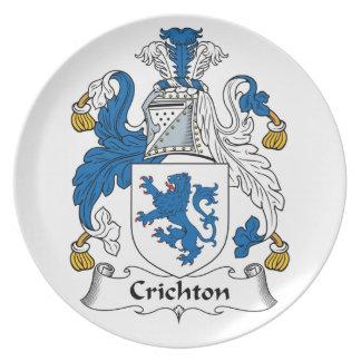 Crichton Family Crest Dinner Plates