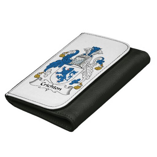 Crichton Family Crest Leather Wallet For Women