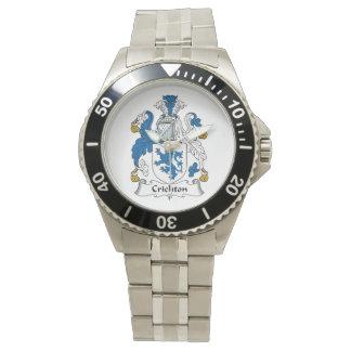 Crichton Family Crest Wrist Watch