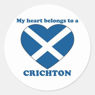 Crichton Round Sticker