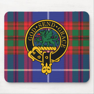 Crichton Scottish Crest and Tartan Mouse Pad