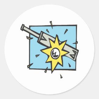 Cricket 3 round sticker