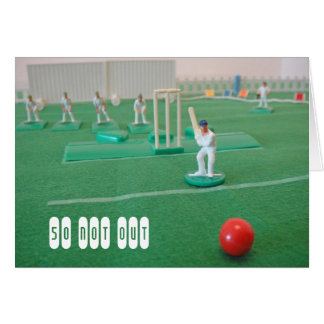 Cricket 50th birthday greeting card