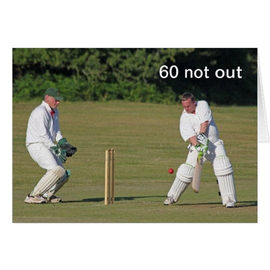 Cricket 60th birthday card