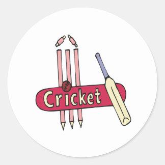 Cricket 7 round sticker