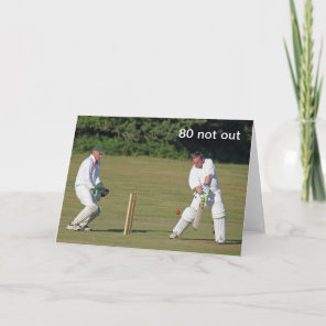 Cricket 80th birthday card
