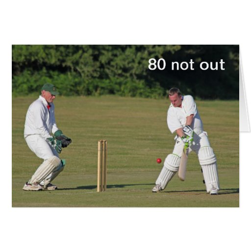 Cricket 80th birthday card