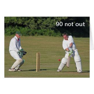 Cricket 90th birthday card