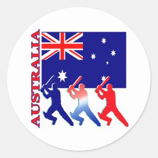 Cricket Australia Classic Round Sticker