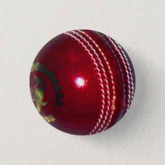 Cricket Ball 3 Cm Round Badge