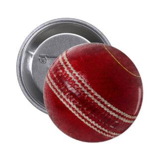CRICKET BALL 6 CM ROUND BADGE
