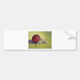 Cricket Ball and Bails Bumper Sticker