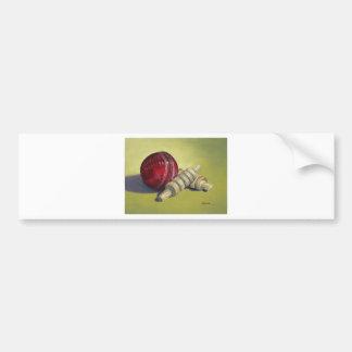 Cricket Ball and Bails Bumper Sticker