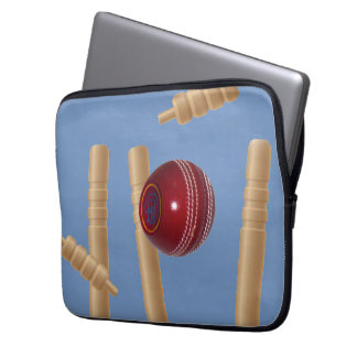 Cricket Ball And Stumps, Laptop Sleeve