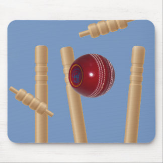 Cricket Ball And Stumps, Mouse Mat