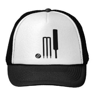 Cricket ball bat stumps trucker hat
