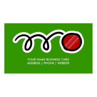 Cricket ball business card design