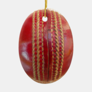 Cricket Ball. Christmas Ornament