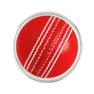 """""""Cricket ball"""" design gifts and products Lapel Pin"""