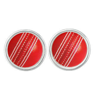 """Cricket ball"" design jewelry set Cufflinks"