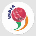 cricket ball flying out India Sticker