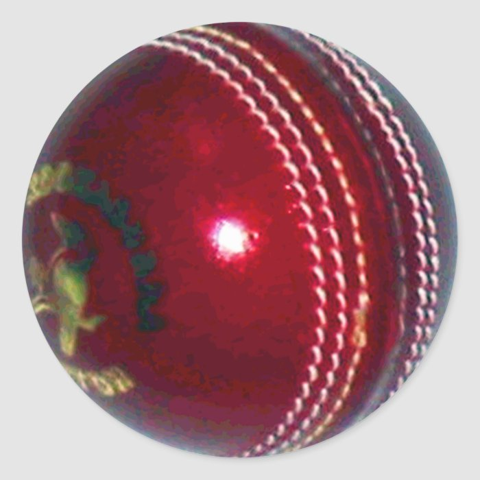 Cricket Ball Round Sticker