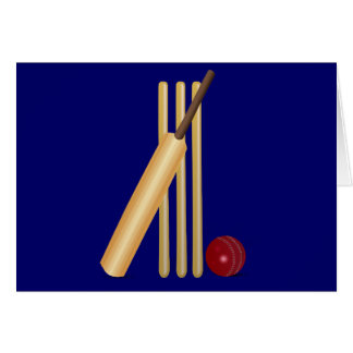 Cricket bat and ball card