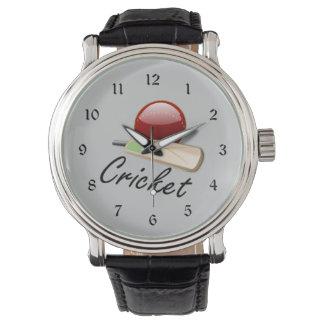 Cricket bat and ball watch